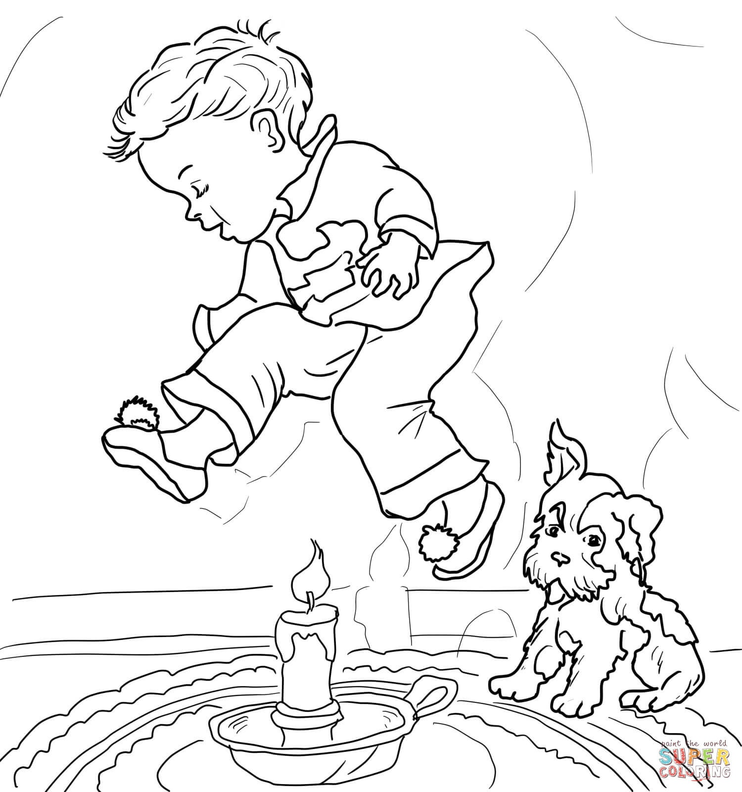 Mother Goose Nursery Rhymes Coloring Pages | Free Coloring Pages - Mother Goose Coloring Pages Free Printable