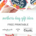 Mothers Day Gift Idea For Friends With Free Printable   Free Printable Mothers Day Gifts