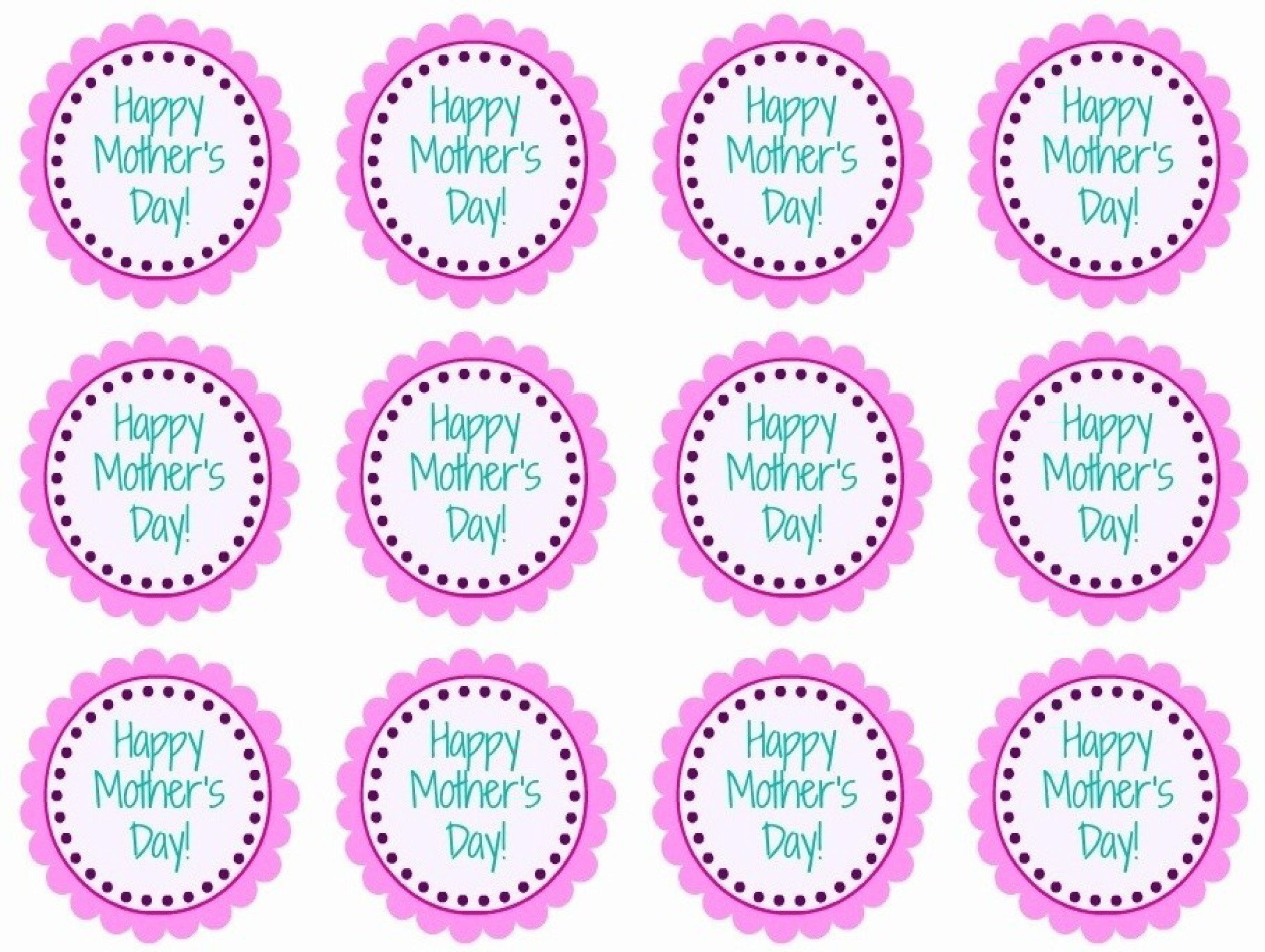Mother's Day Printable Cupcake Toppers Diy Craft - Cupcake Topper Templates Free Printable