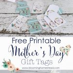 Mother's Day Printable Gift Tags   Blooming Homestead   Free Printable Mothers Day Gifts