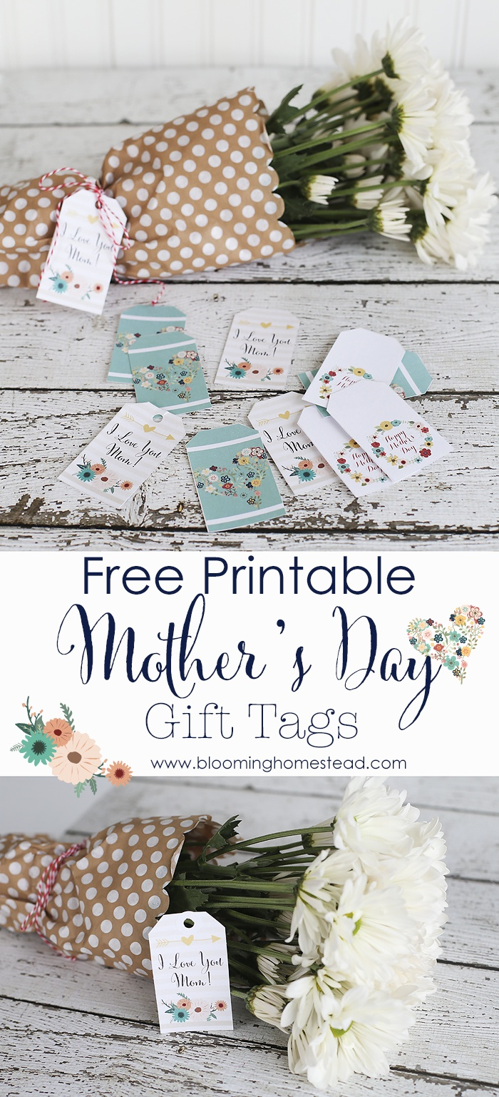 Mother's Day Printable Gift Tags - Blooming Homestead - Free Printable Mothers Day Gifts