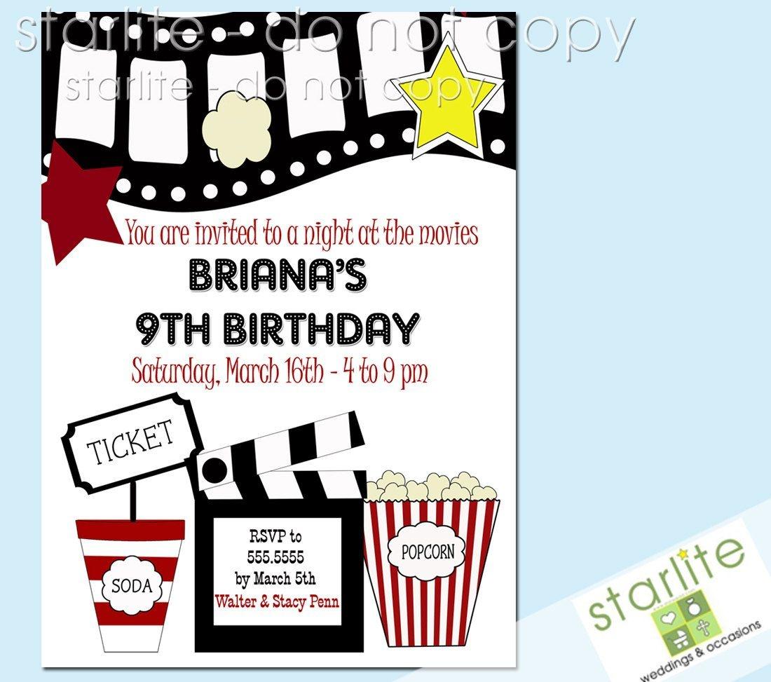 Movie Themed Party Invitations Free - Tutlin.psstech.co - Free Printable Movie Themed Invitations