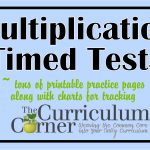 Multiplication Timed Tests   The Curriculum Corner 123   Free Printable Multiplication Timed Tests