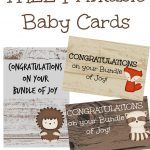 Musings Of An Average Mom: Woodland Congratulations On Your New Baby   Free Printable Congratulations Baby Cards