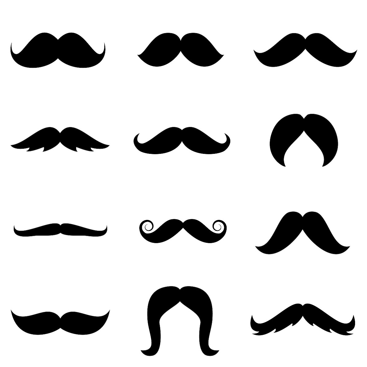 Mustache Template Free Printable | Stenciled Drop Cloth Pillow - Name That Mustache Game Printable Free