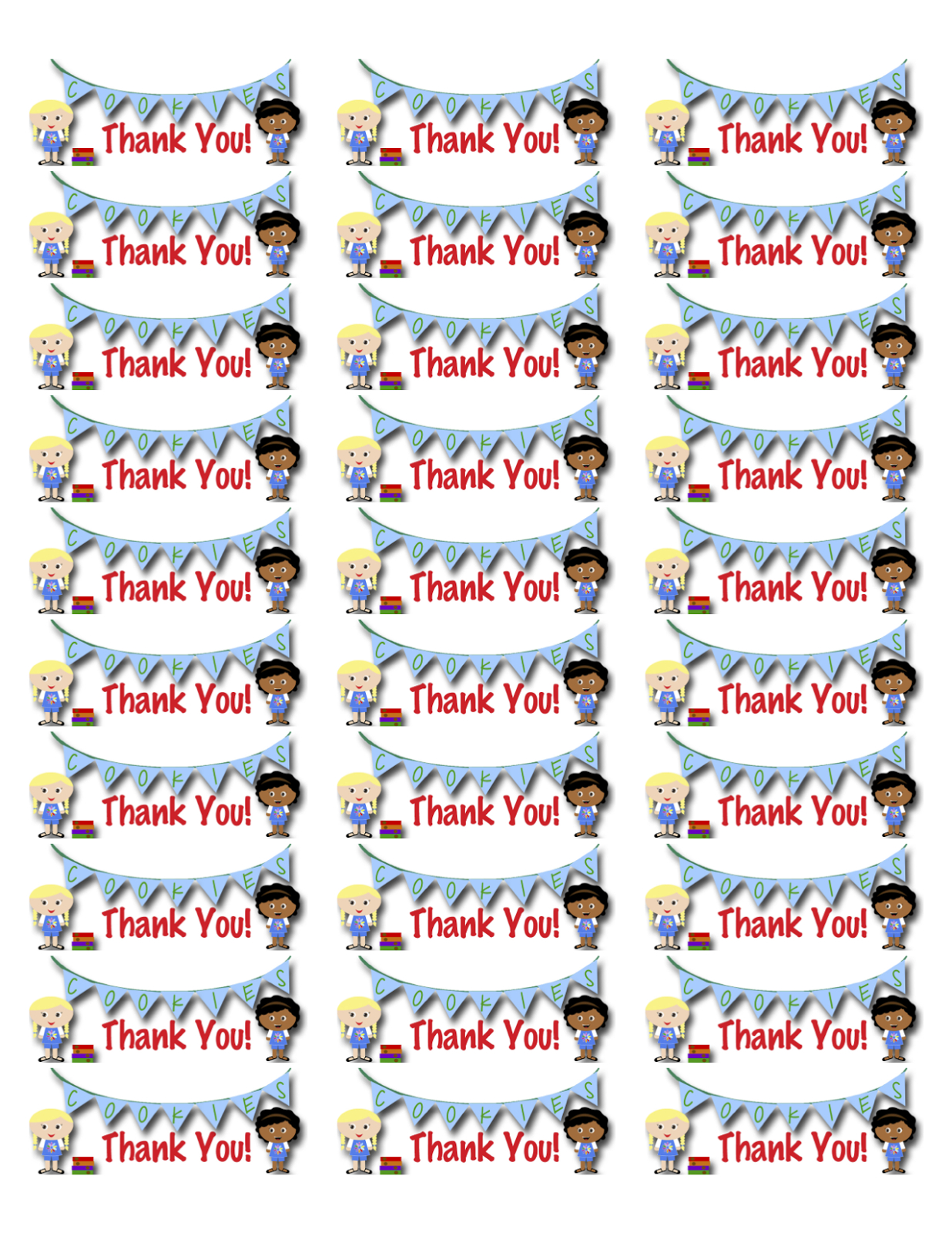 My Fashionable Designs: Girl Scouts: Daisies Thank You Labels - Free - Free Printable Labels Avery 5160