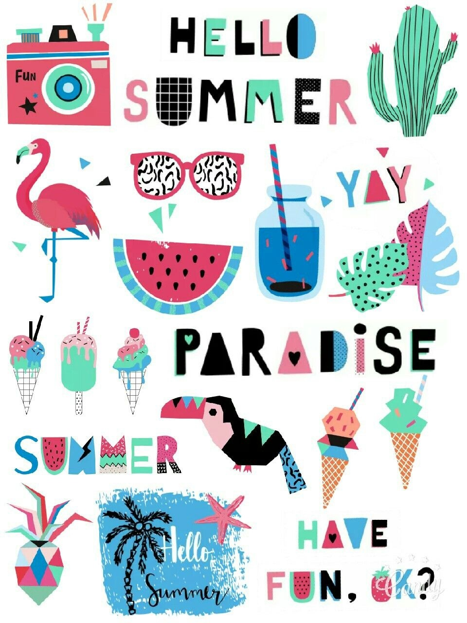 My Paradise Free Stickers Printable #summer#paradise#vacation#free - Free Printable Summer Clip Art