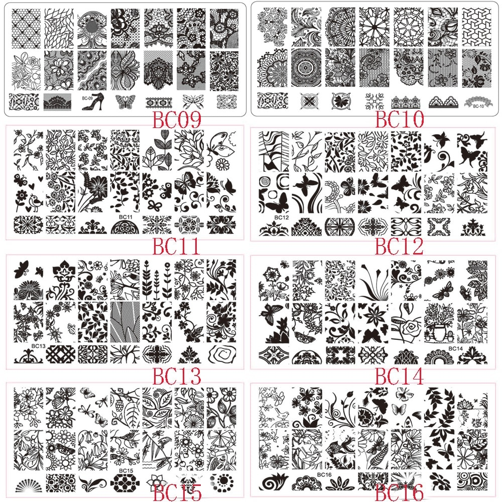 Nail Art Ideas » Free Printable Nail Art Stencils - Pictures Of Nail - Free Printable Lace Stencil