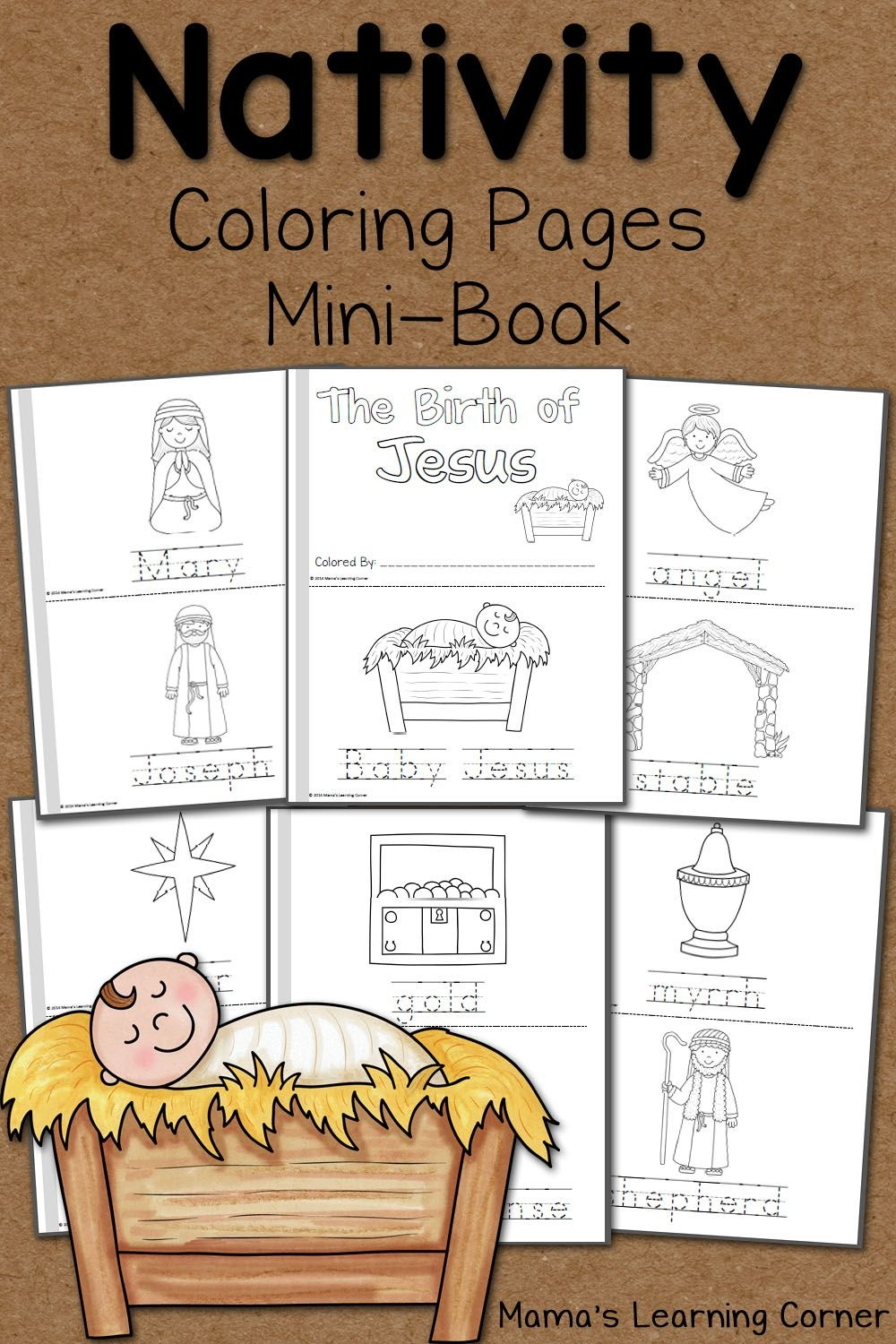 Nativity Coloring Pages   Printables   Nativity Coloring Pages - Free Printable Nativity Story Coloring Pages