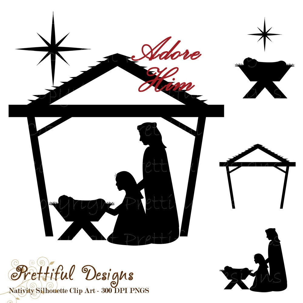 Nativity Silhouette Free Nativity Silhouette Clip Art Hostted 2 - Free Printable Nativity Silhouette