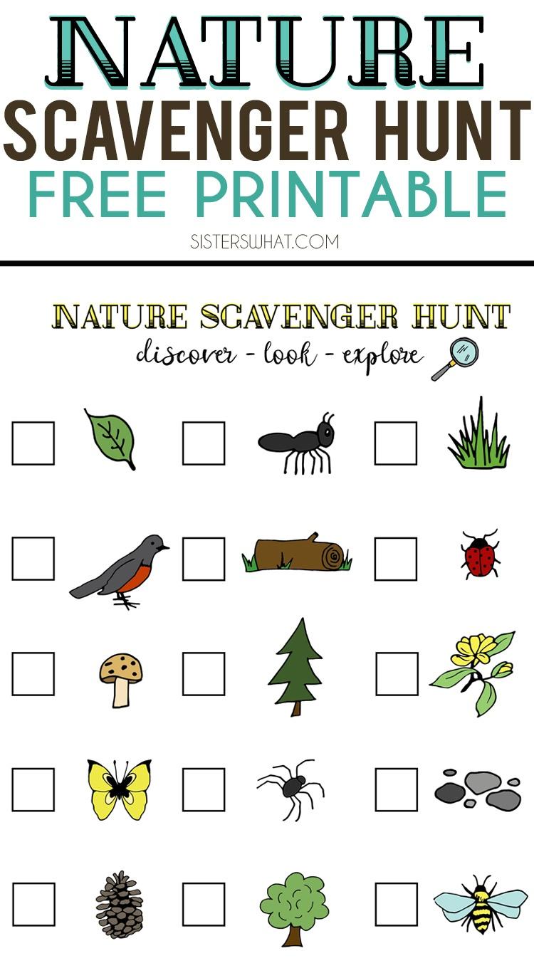 Nature Scavenger Hunt And Summer Adventures    Free Printable - Free Printable Scavenger Hunt