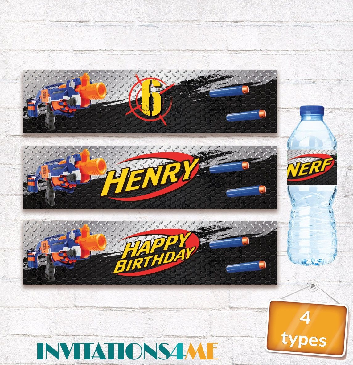 Nerf Drink Bottle Labels Nerf Water Bottle Wrappers Nerf Birthday - Free Printable Cars Water Bottle Labels