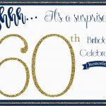 New 60Th Birthday Party Invitations Free Templates | Best Of Template   Free Printable Surprise 60Th Birthday Invitations
