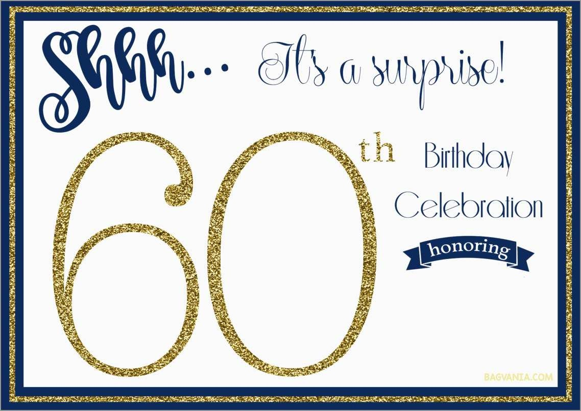 New 60Th Birthday Party Invitations Free Templates | Best Of Template - Free Printable Surprise 60Th Birthday Invitations