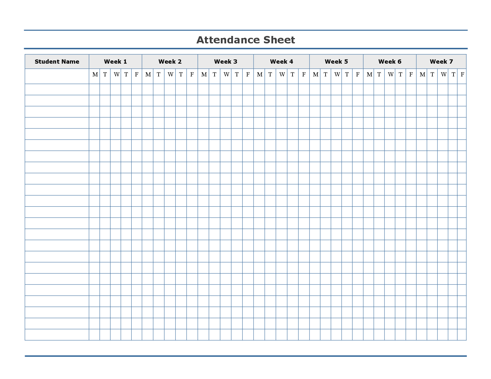 New Attendance Chart Printable | Mavensocial.co - Free Printable Sunday School Attendance Sheet