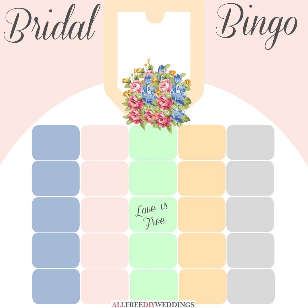 New Bridal Bingo: Free Bridal Shower Games   Allfreediyweddings - Free Printable Bridal Shower Blank Bingo Games