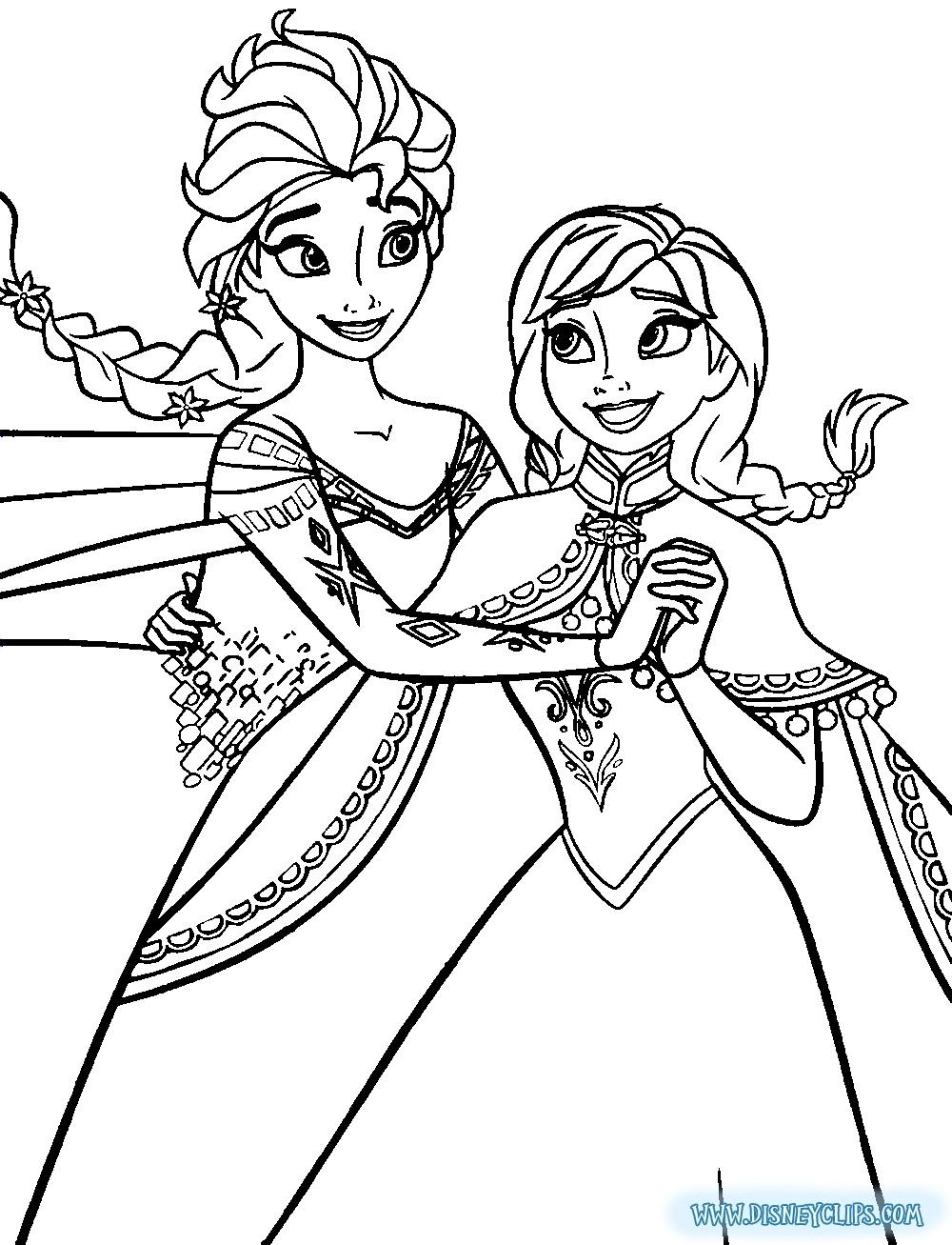 New Elsa And Anna Coloring Pages Disney Frozen Printable Coloring - Free Printable Coloring Pages Disney Frozen
