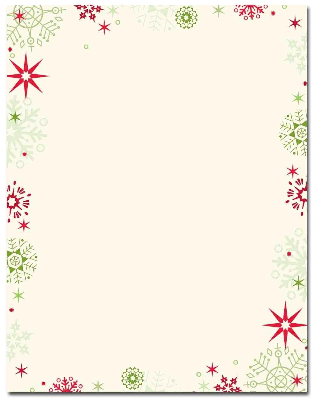New Free Printable Christmas Stationary Borders At Temasistemi - Free Printable Christmas Borders