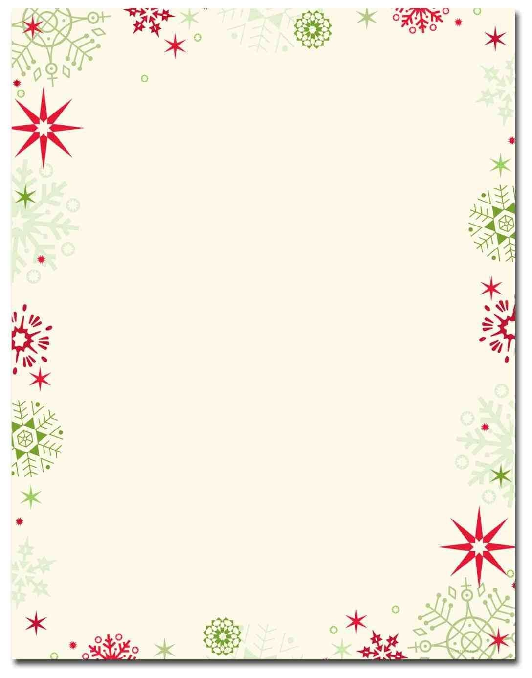 photograph regarding Free Printable Stationary Borders called No cost Printable Xmas Letterhead Totally free Printable