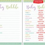 New Mom Approved Cute Free Printable Baby Shower Games   Free Printable Baby Shower Games With Answer Key