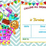 Nice Calling All Shoppers! Here Are Free Blank Shopkins Invitation   Free Printable Shopkins Invitations