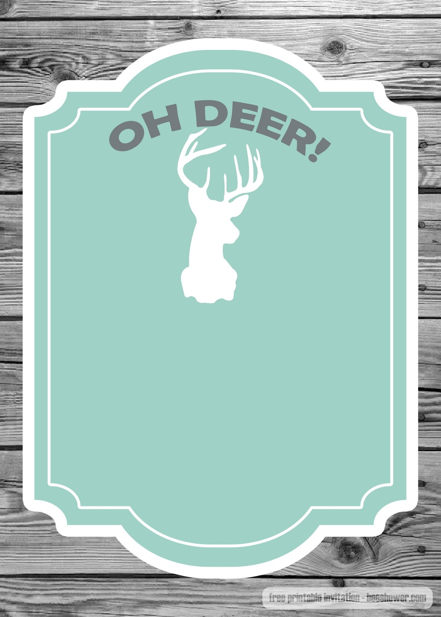 Nice Free Baby Shower Invitation- The Deer Template | Beeshower - Free Printable John Deere Baby Shower Invitations
