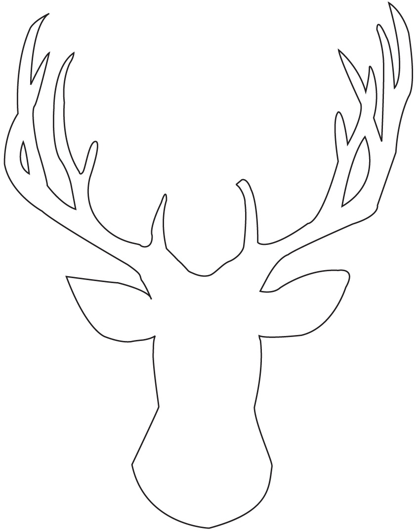Nice Template For Reindeer Antlers Pictures. Cute And Free Printable - Reindeer Antlers Template Free Printable