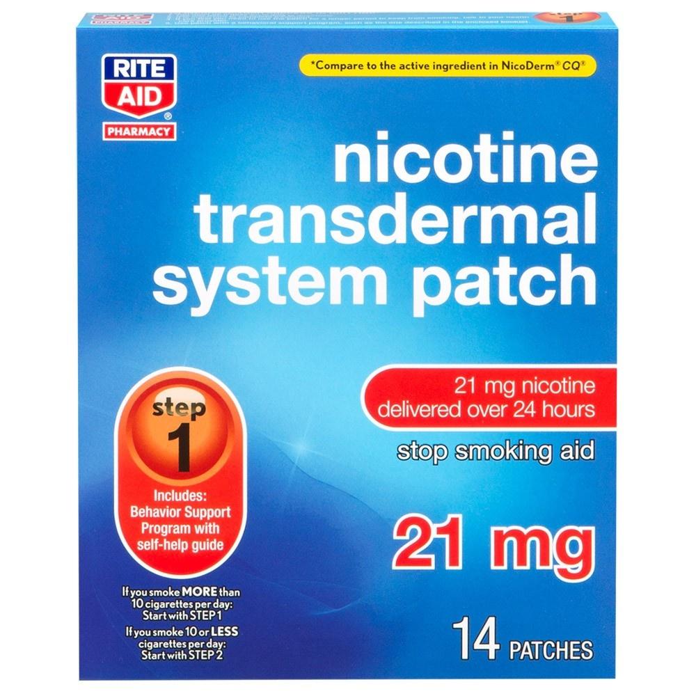 Nicotine Transdermal Patch System 21 Mg - 14 Ct | Rite Aid - Free Printable Nicotine Patch Coupons