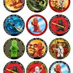 Ninjago Free Printable Toppers, Labels, Images And Invitations   Free Printable Lego Cupcake Toppers