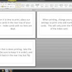Note/index Cards   Word Template   Youtube   Free Printable Index Cards