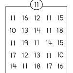 Number Eleven Writing, Counting And Identification Printable   Free Printable Number Worksheets