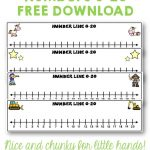 Number Lines 0 To 20 Unicorns Stars Construction Pirates Free   Free Printable Number Line 0 20