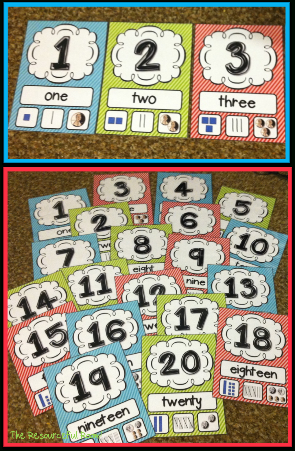 Number Posters | Classroom Freebies! | Classroom Freebies, Numbers - Free Printable Number Posters