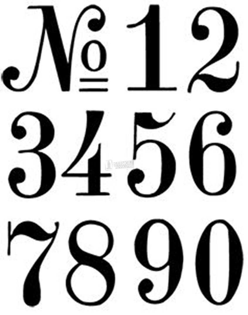 Number Stencils | Crafts | Number Stencils, Letter Stencils, Number - Free Printable Fancy Number Stencils