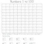 Number Tracing Worksheets 1 100 – Celanadalamwanita.club   Free Printable Number Worksheets 1 100