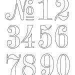 Numbers Stencil … | Outdoor Decor | Lette…   Free Printable Fancy Number Stencils
