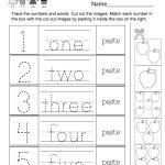 Numbers Worksheet   Free Kindergarten Math Worksheet For Kids   Free Printable Number Worksheets For Kindergarten