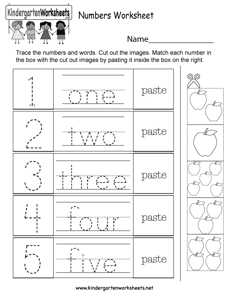 Numbers Worksheet - Free Kindergarten Math Worksheet For Kids - Free Printable Number Worksheets For Kindergarten