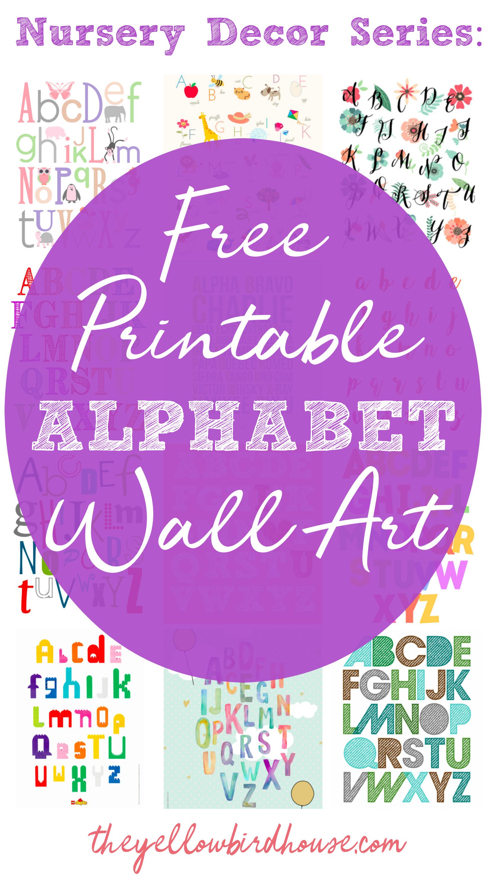 Nursery Decor Series: 19 Free Printable Alphabet Wall Art Pieces - Free Printable Preschool Posters