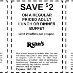 Old Country Buffet Coupons   $2 Off Your Buffet At Ryans, Hometown   Old Country Buffet Printable Coupons Buy One Get One Free