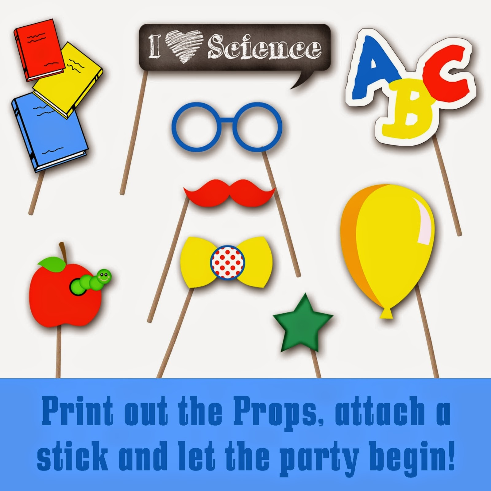 Old Market Corner: Back To School Photo Booth Prop Set With Free Dr - Free Printable Dr Seuss Photo Props