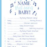 On My Side Of The Room: Name That Tune: The Baby Shower Game | Baby   Name That Tune Baby Shower Game Free Printable