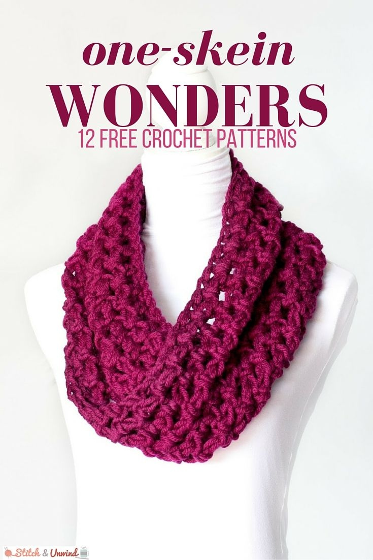 One-Skein Wonders: 12 Free Crochet Patterns | Crochet | Crochet - Free Printable Crochet Scarf Patterns