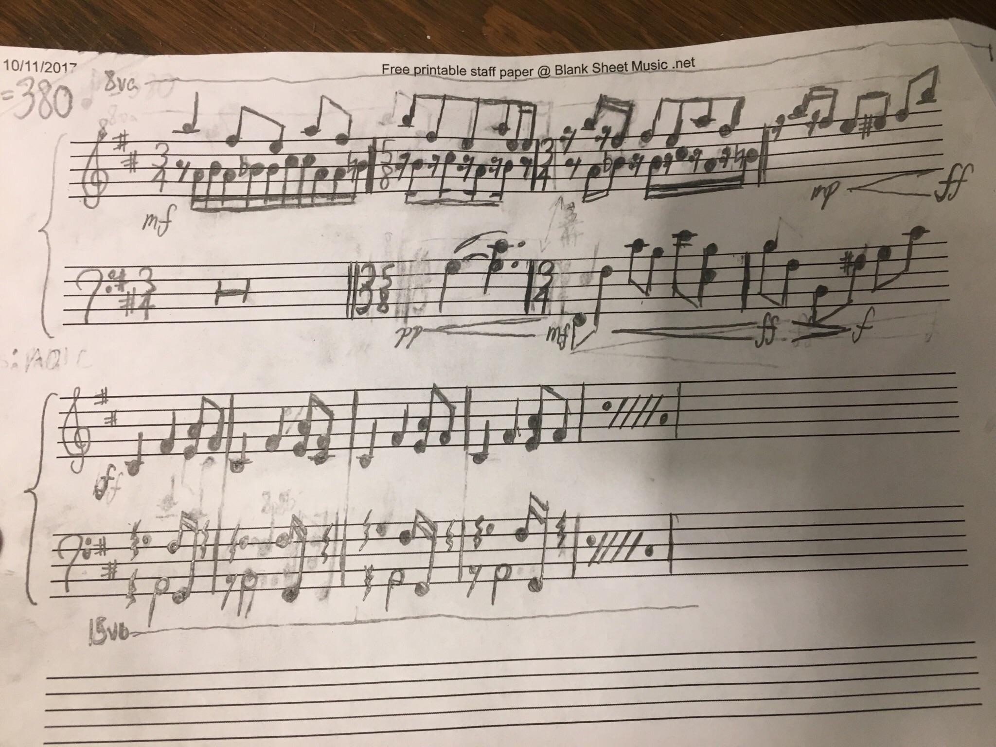 Op] I Started Making Sheet Music For The Guardian Theme. Looks Like - Free Printable Staff Paper Blank Sheet Music Net