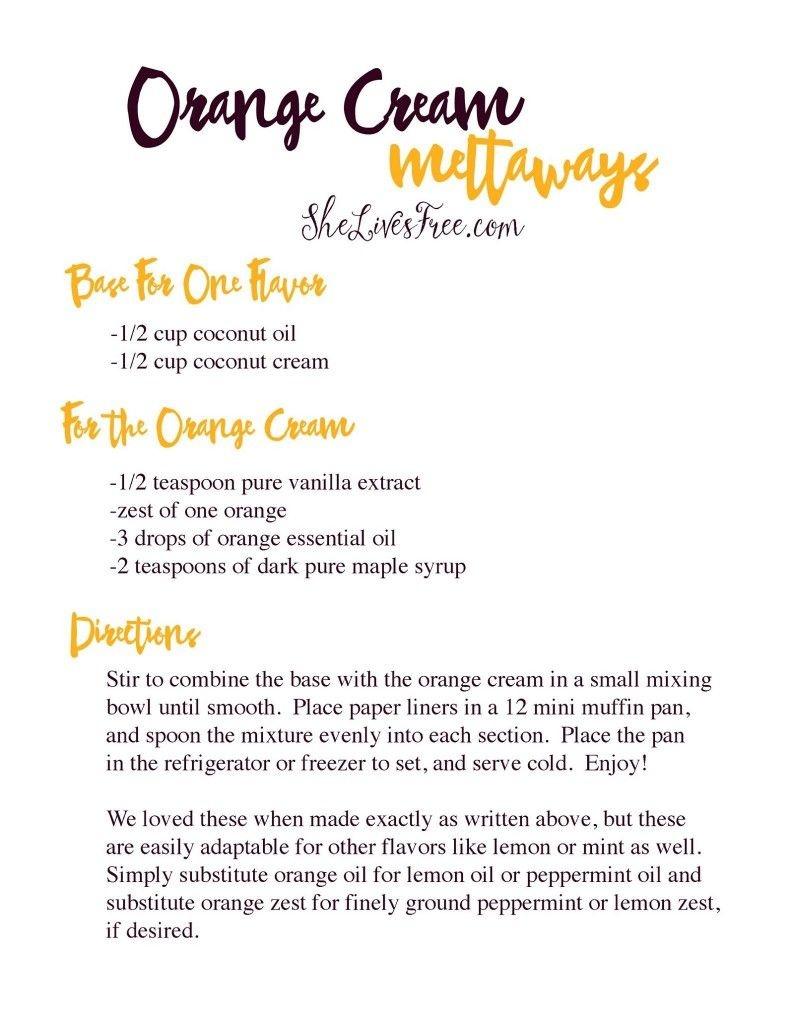 Orange Cream Meltaways Dessert Recipe And Printable | Gluten Free - Free Printable Dessert Recipes