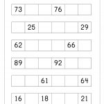 Ordering Numbers Worksheets, Missing Numbers, What Comes Before And   Free Printable Number Worksheets 1 100