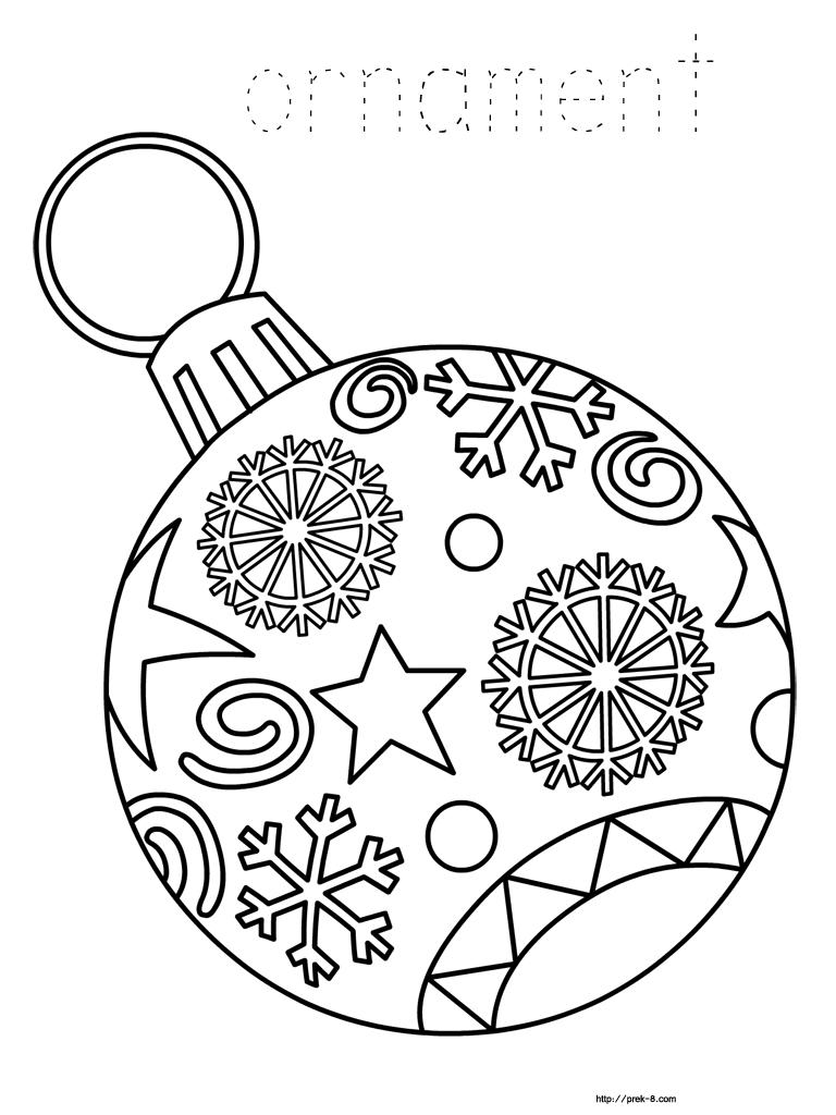 Ornament Coloring Page - Christmas | To Color | Navidad, Mandalas De - Free Printable Ornaments To Color