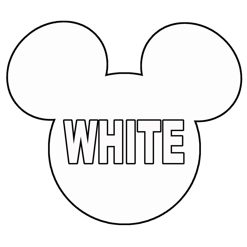 Outline Of Mickey Mouse Head | Free Download Best Outline Of Mickey - Free Printable Mickey Mouse Template