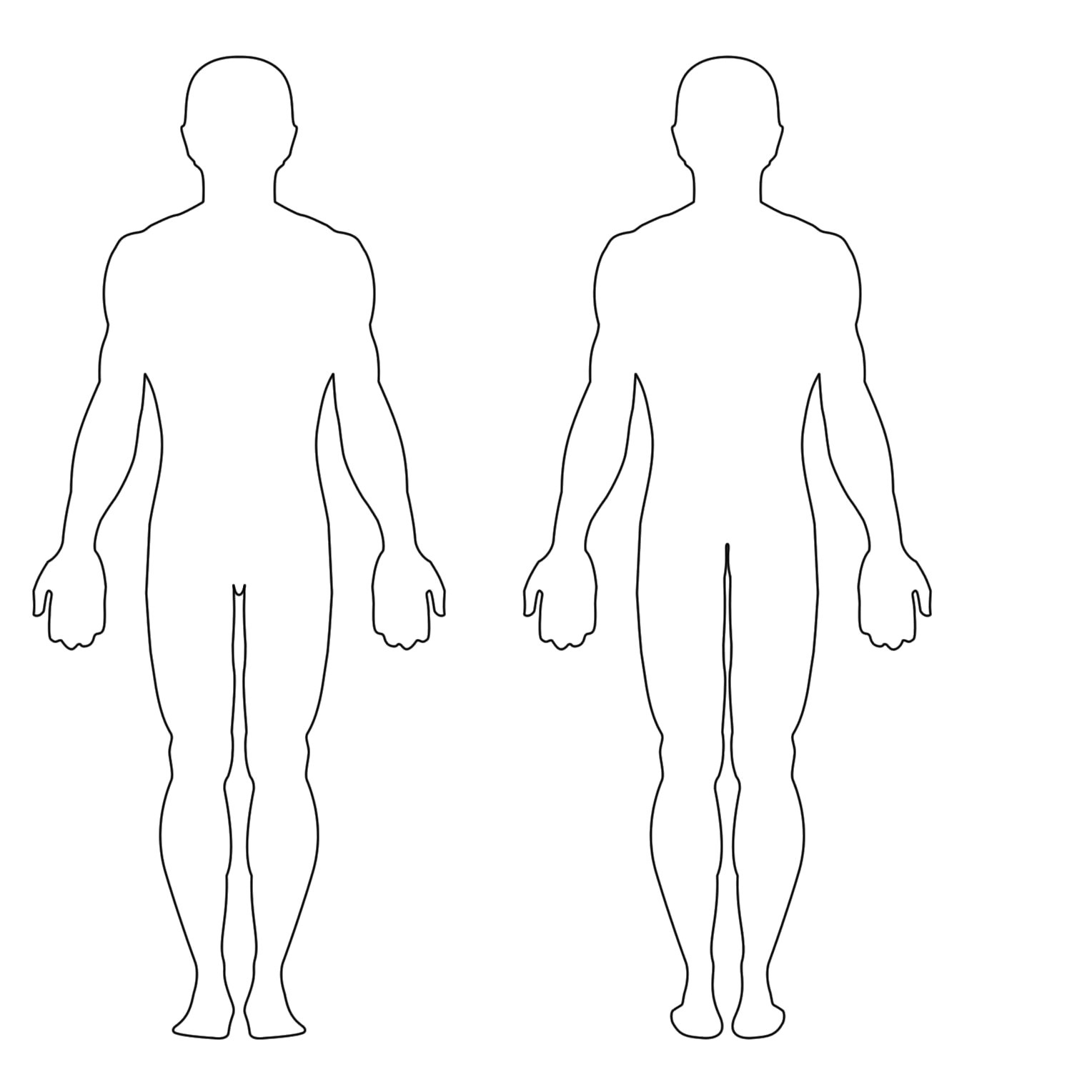 Outline Sketch Of Human Body At Paintingvalley   Explore - Free Printable Human Body Template