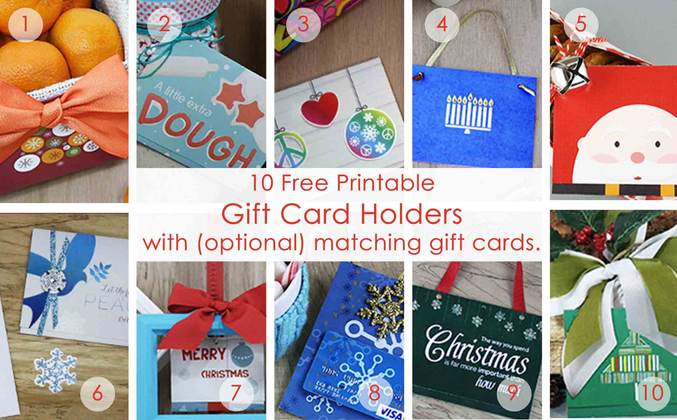 Over 50 Printable Gift Card Holders For The Holidays   Gcg - Free Printable Gift Card Envelope Template
